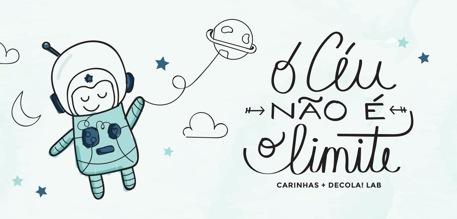 """Ilustração que fizemos especialmente para os """"Astronautas"""" do Decola!"""