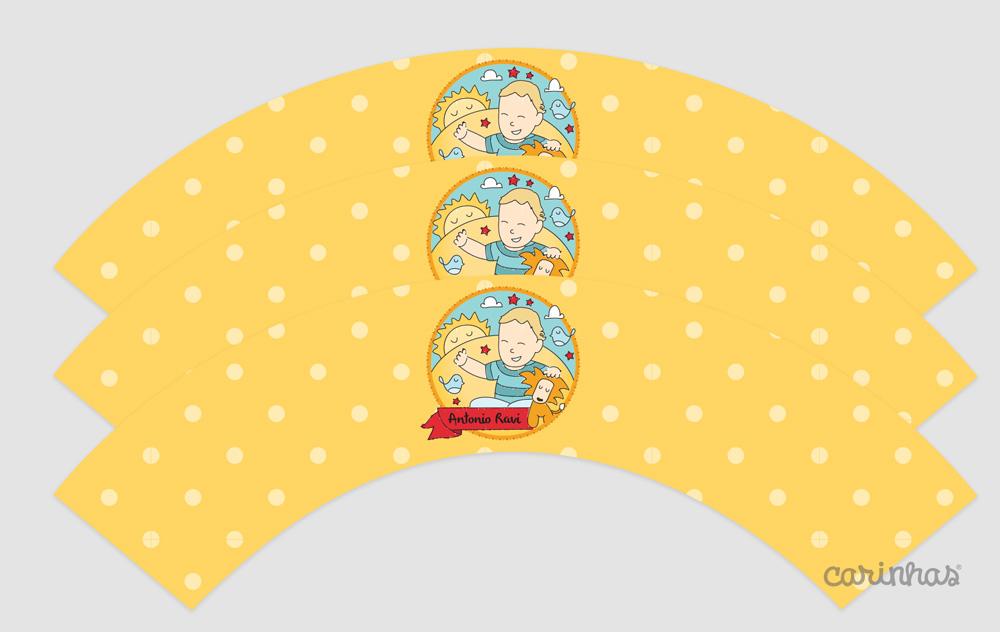 Wrap de cupcake: envolve como uma capinha para personalizar a mesa
