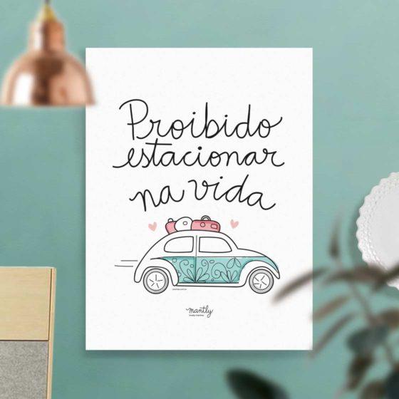 Proibido estacionar na vida - carinhas.com.br/mantly