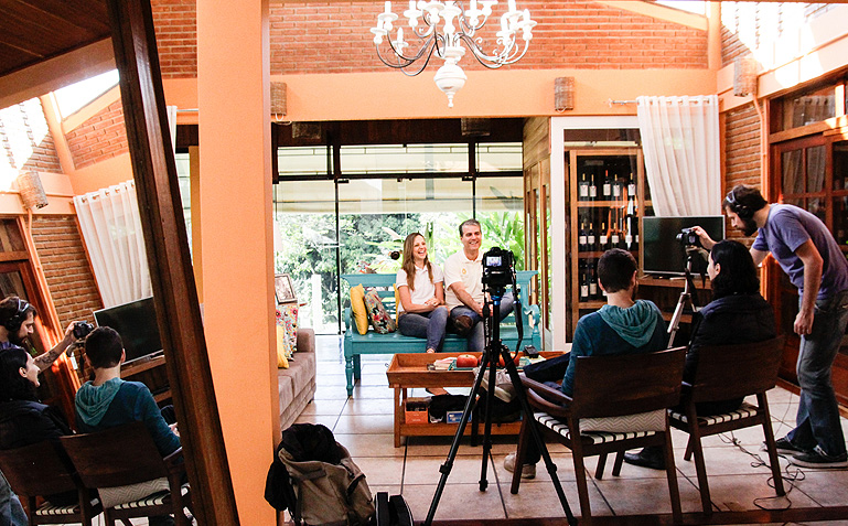 O bate papo com o Maninho e a Karine foi na sede da Pousada - Foto: Carol Lá Lach