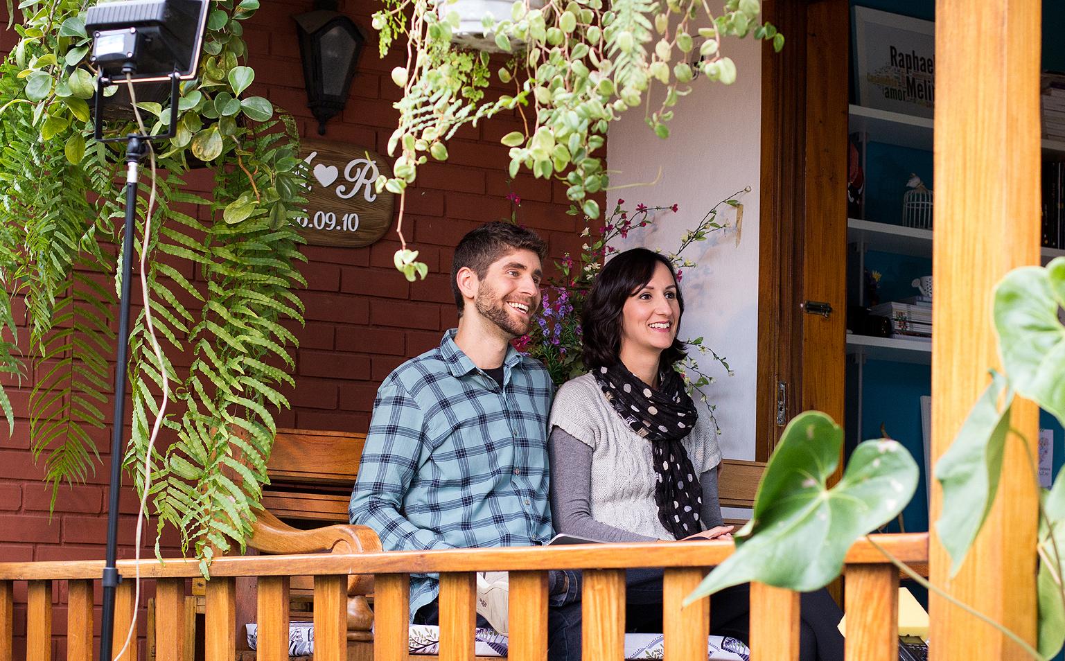 Curtindo o fim de tarde na varanda e gravando juntos - Foto: Carol Lá Lach