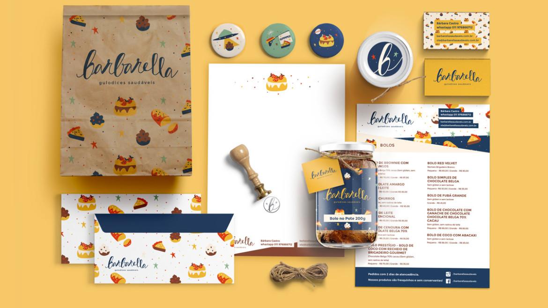 Identidade Visual Barbarella - carinhas.com.br
