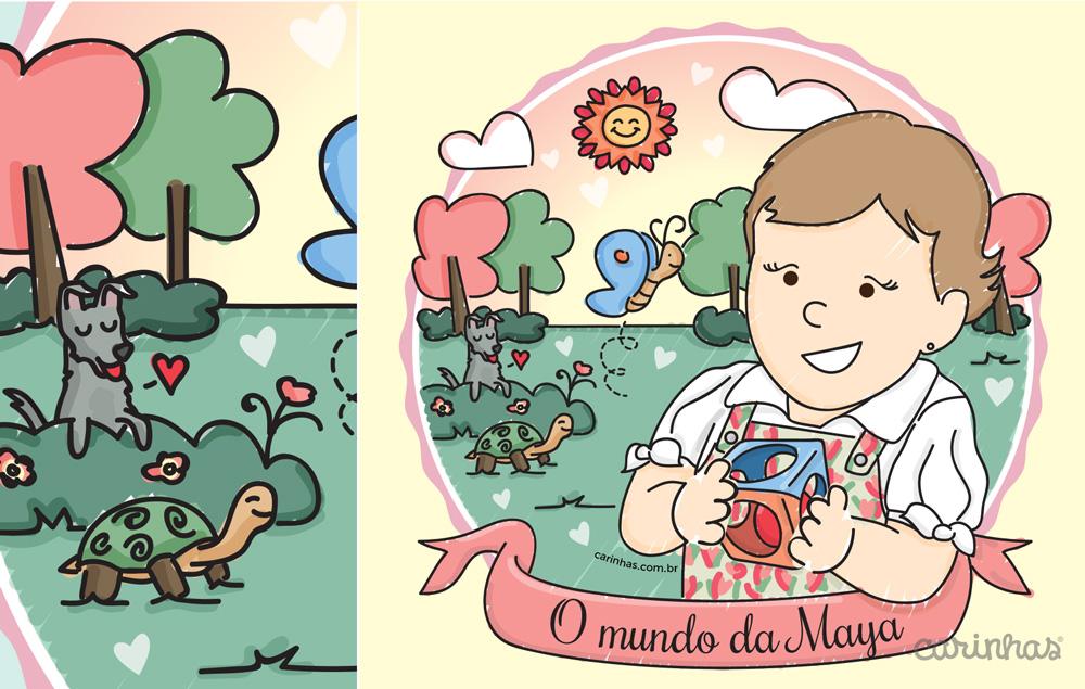 A Carinha da Maya esbanjando fofura no seu mundo de imaginação