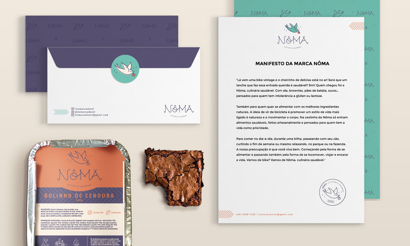 Manifesto e materiais desenvolvidos para a marca Nôma. Clique para ver o projeto completo. carinhas.com.br