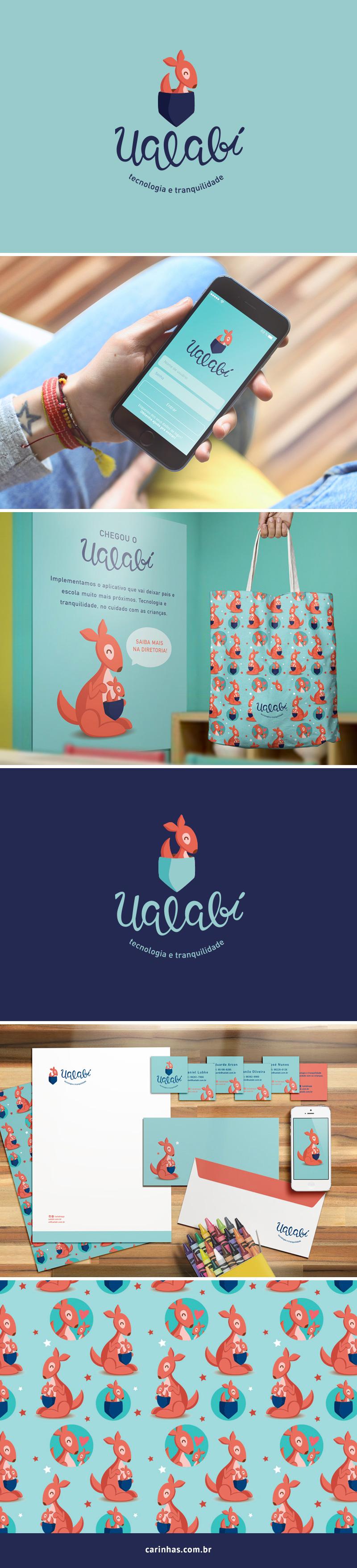Marca Apaixonante para a Ualabí - carinhas.com.br