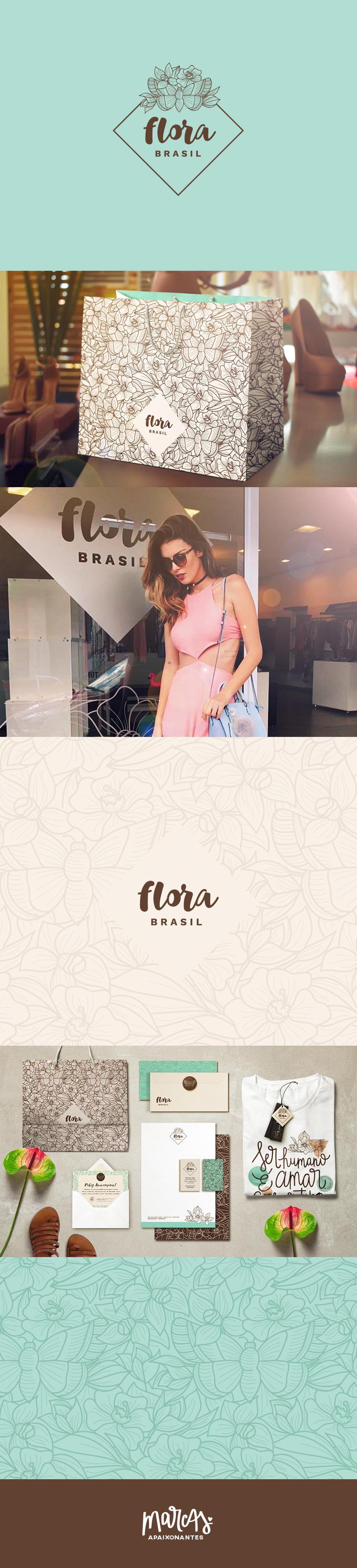 Marca Apaixonante para a Flora Brasil - carinhas.com.br