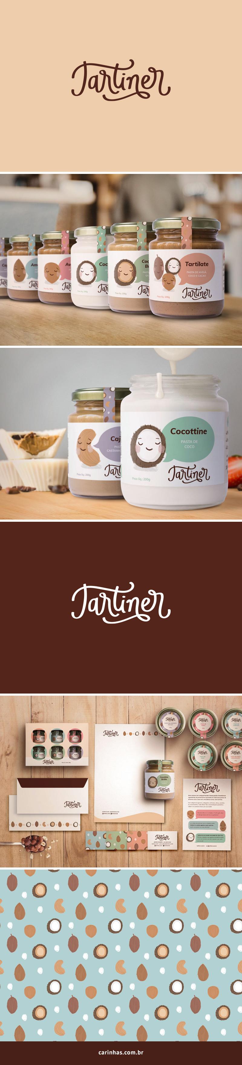 Marca Apaixonante para a Tartiner - carinhas.com.br