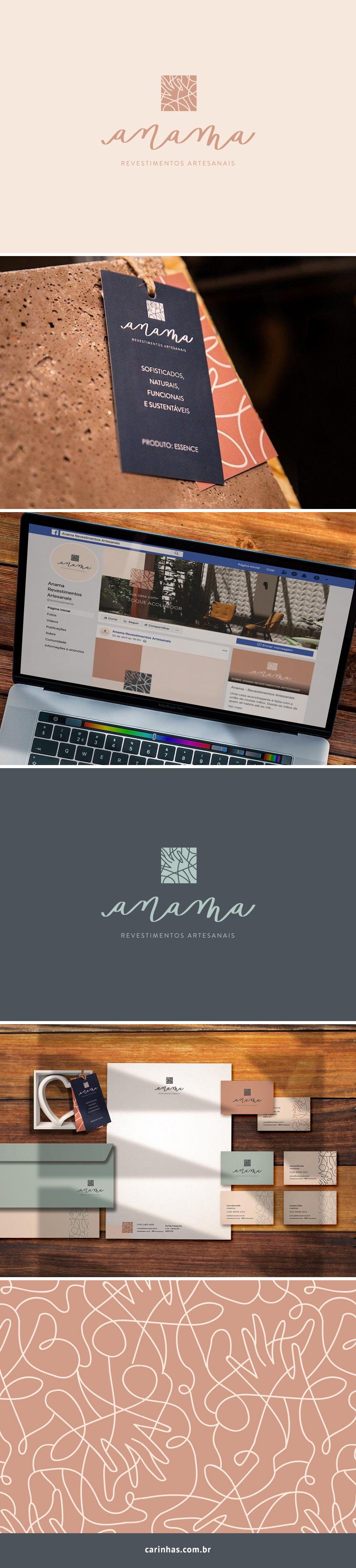Marca Apaixonante para a Anama - revestimentos artesanais - carinhas.com.br