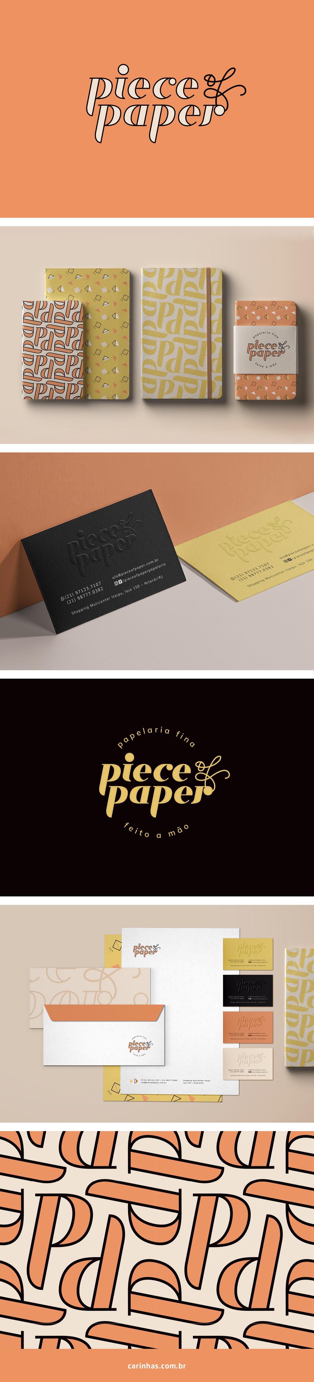 Marca Apaixonante para a Piece of Paper - papelaria fina - carinhas.com.br