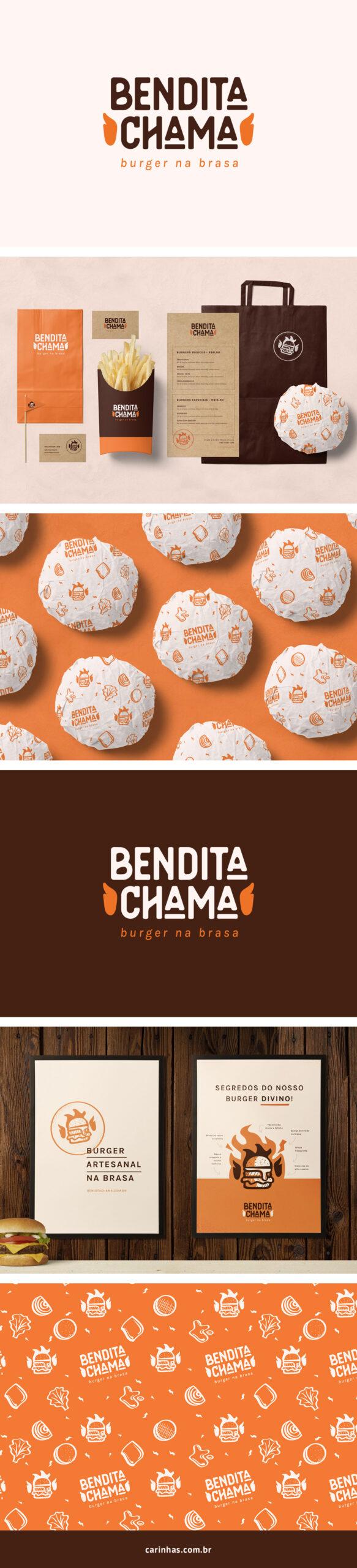 Bendita Chama - Projeto de Marca Apaixonante para hamburgueria