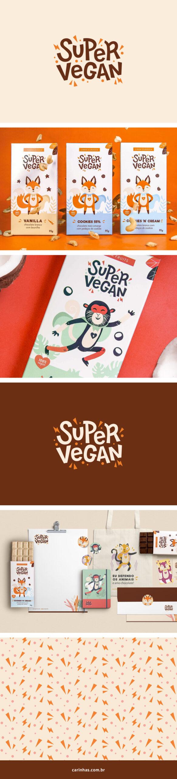 Super Vegan - Projeto de Marca Apaixonante para chocolate vegano